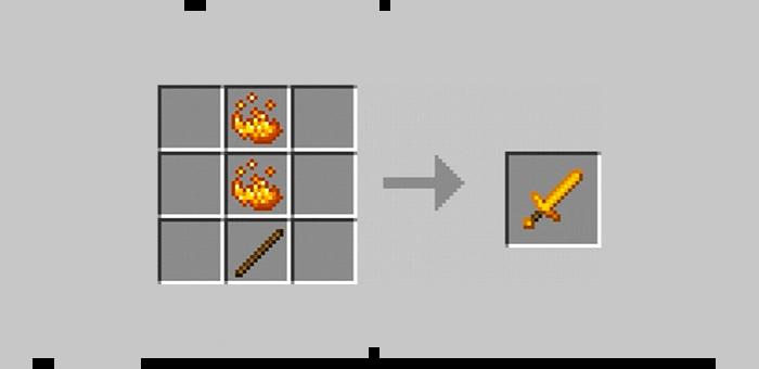 Ифритовый меч из мода Super Swords для Minecraft