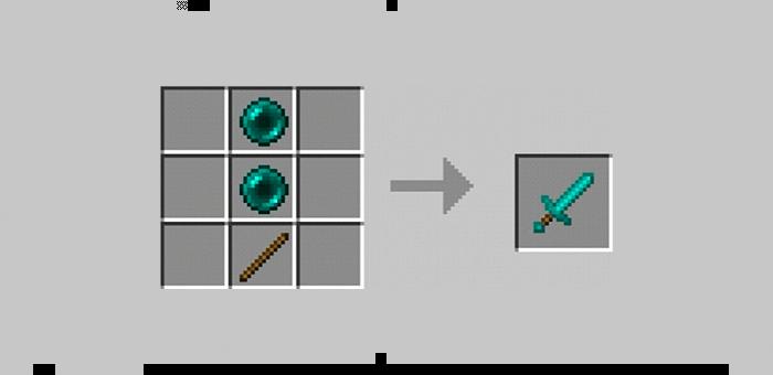 Меч эндера из мода Super Swords для Minecraft