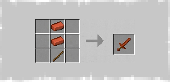 Brick Sword from Super Swords mod for Minecraft