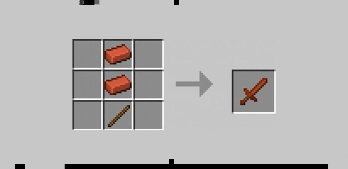 Кирпичный меч из мода Super Swords для Minecraft