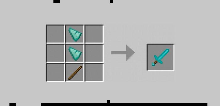 Призмариновый меч из мода Super Swords для Minecraft