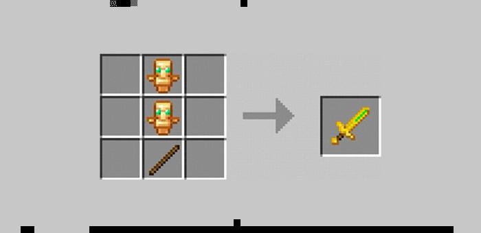 Меч бессмертия из мода Super Swords для Minecraft