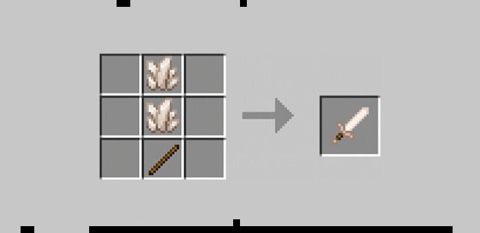 Quartz Sword from the Super Swords mod for Minecraft