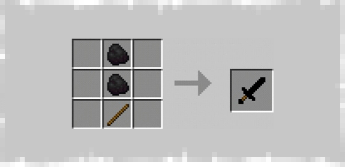 Coal Sword from Super Swords mod for Minecraft