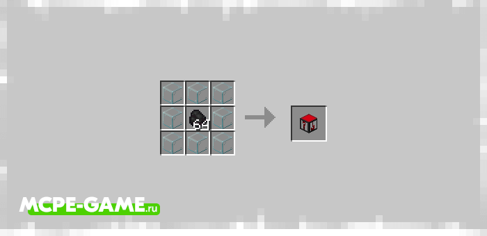 Recipe for Crafting Failure Block from Unlucky Blocks mod for Minecraft