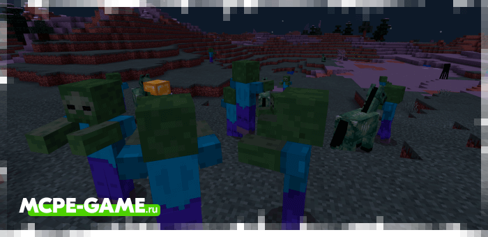 Zombie Invasion from the Unlucky Blocks mod for Minecraft