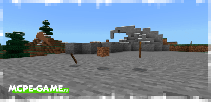 Useless items from the Unlucky Blocks mod for Minecraft