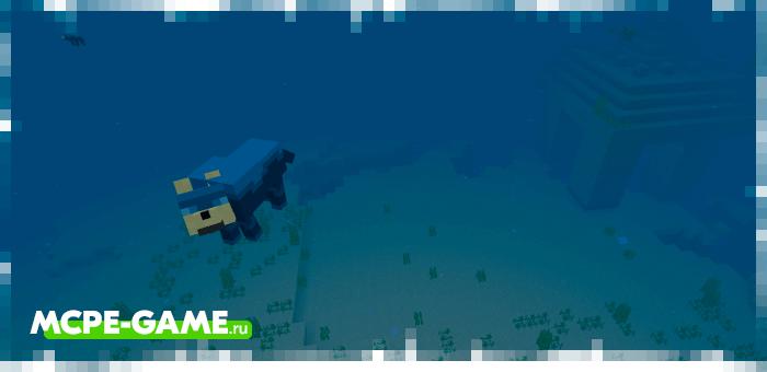 Призмариновый волк из мода Wolves+ для Minecraft