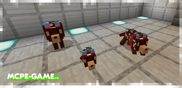 Шоколадные волки из мода Wolves+ для Minecraft