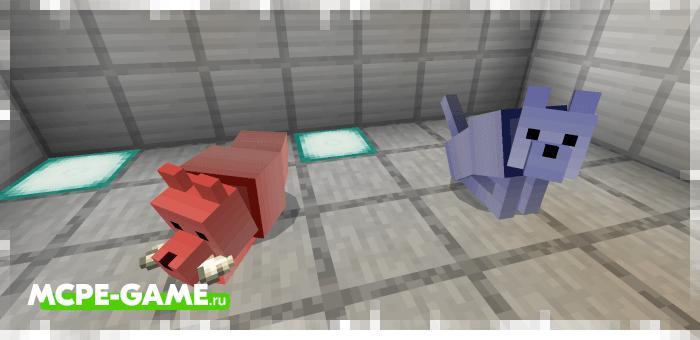 Монохромная собака из мода Wolves+ для Minecraft