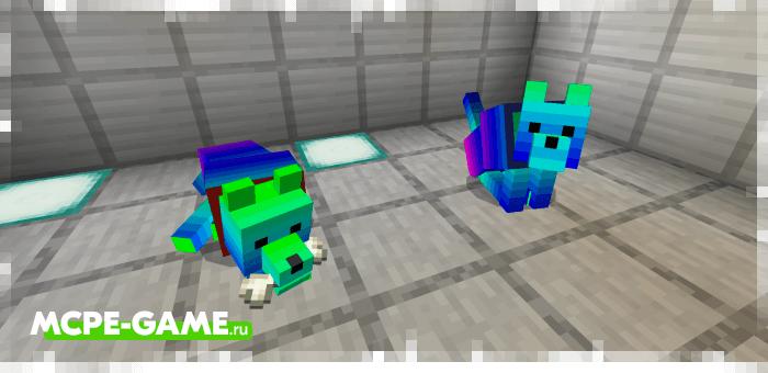 Спектральная собака из мода Wolves+ для Minecraft