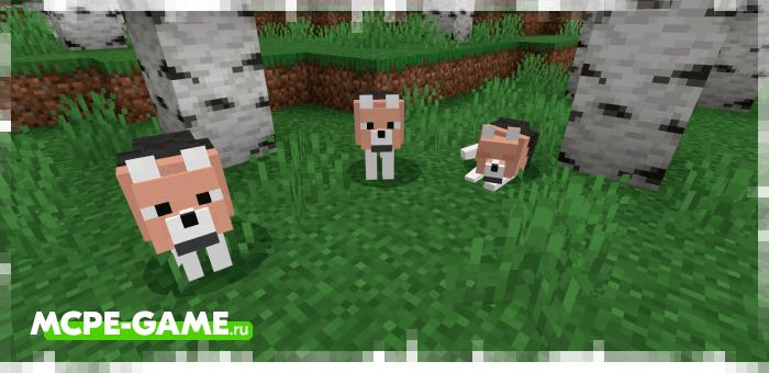 Нюховая гончая из мода Wolves+ для Minecraft