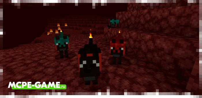 Адская гончая из мода Wolves+ для Minecraft