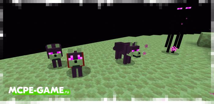 Псы Эндера из мода Wolves+ для Minecraft