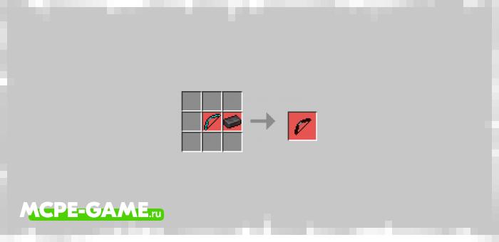 Незеритовый лук из мода Bows+ для Minecraft