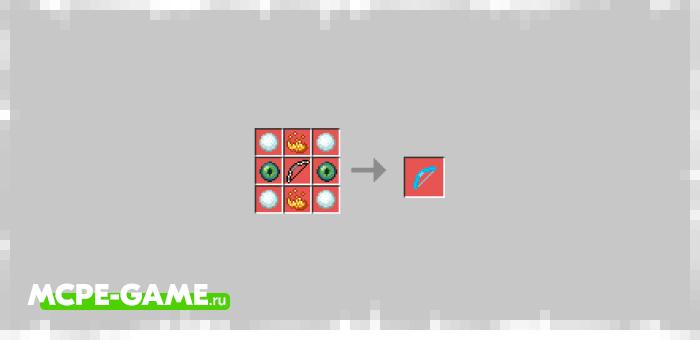 Ледяной лук из мода Bows+ для Minecraft