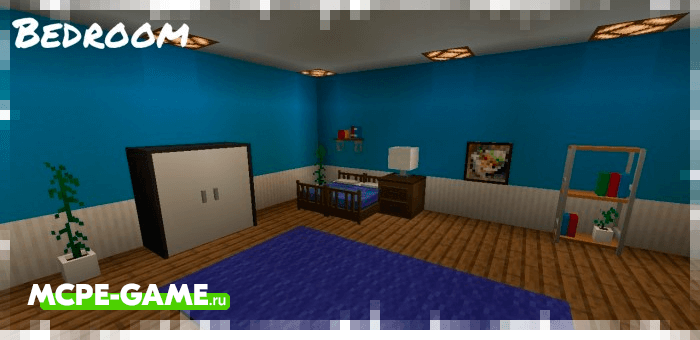 Примеры расстановки мебели из Minecraft мода Bzf Furniture's