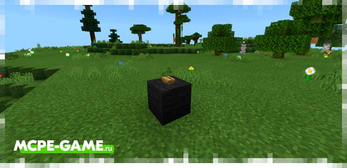 Кнопка для перемещения в лобби на Minecraft карте MEGA Skyblock