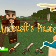Pirates — Большой мод на пиратов для Майнкрафт
