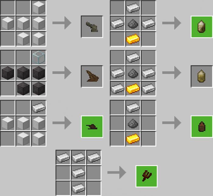 Minecraft ArtilleryCraft Addon Crafting Recipes