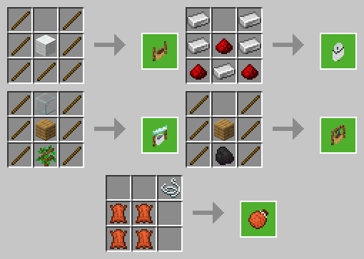 Minecraft Thirsty Addon Crafting Recipes